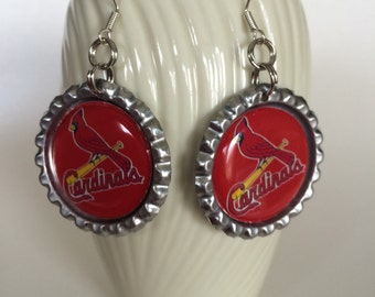 St. Louis Cardinals Earrings, St. Louis Cardinals Baseball Earrings, Cardinals Earrings, Cardinals Jewelry, Cardinals Accessories