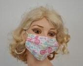 Ah Paris..Flu mask, biking in Paris, medical fabric mask, dentistry, groomer, flower shop, after face surgery, Paris lover