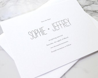 LETTERPRESS SAMPLE  |  Minimalist Chic Suite  |  minimalist  |  letterpress save the date  |  simple  |  weddings  |  save the date