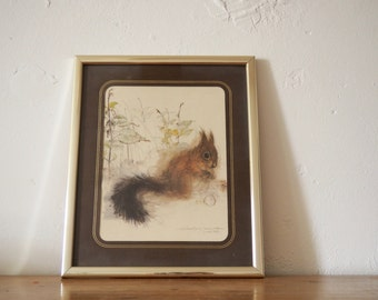 Squirrel Painting - Mads Stage Woodland Animal Print