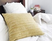 Mustard yellow african mudcloth pillow cover