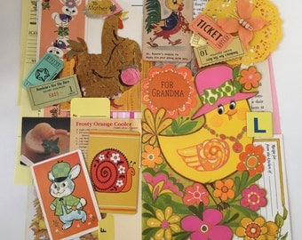 EASTER Scrap Pack /Easter Ephemera Paper Pieces 40 Pc.DIY Kit for Mixed Media Inspiration Kit, Collage, Altered Art