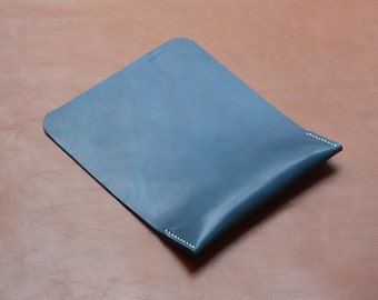 Leather Mouse Pad, Ergonomic Wrist Rest Support, Premium Italian Leather, Denim Blue, Mac Accessories, Free Shipping