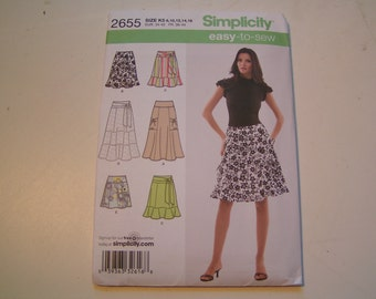 Simplicity Pattern 2655 easy to sew Miss Petite Skirt in three lengths