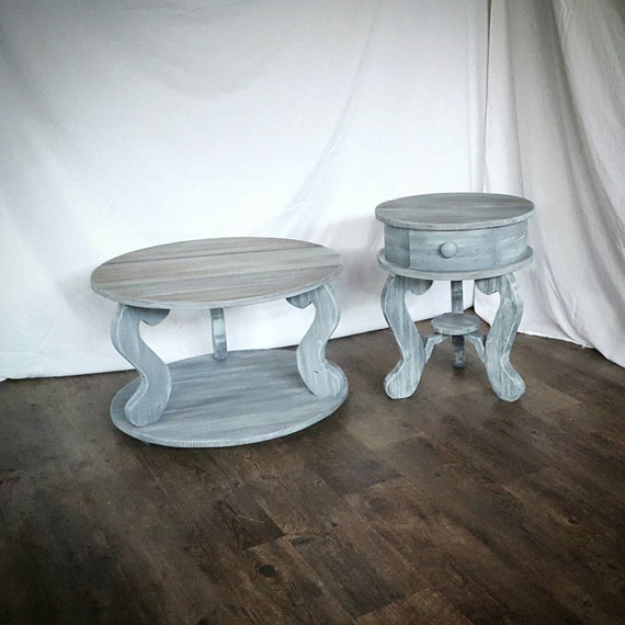Driftwood End Table: The Grey Driftwood Joanna Round Side End Table By Thelakenest