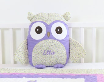 Owl, Decorative Owl Pillow, Soft Owl Toy, Baby Owl, Purple Owl Cushion, Kids Gift