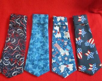 Memorial Day,  July 4th Dog Necktie