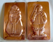 Reserved do not purchaseVintage Copper Mold Wall Hanging  Set of  2  Copper on Tin