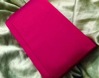 Reduced sale- Vintage Red Cabernet Colored Satin Clutch Purse / Evening Bag / Formal Handbag /prom purse / mother of bride