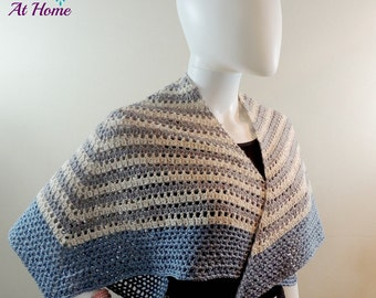 Four Sixth Wrap ~ Crochet PATTERN PDF ONLY