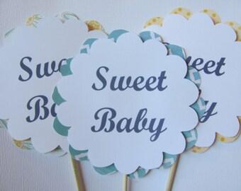 Sweet Baby Centerpiece sticks, Baby Shower decorations OR Vase Decor Set of 3,