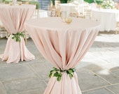 "Blush Tablecloth, Cocktail table, 120"" Round, FREE US SHIPPING, Ships 1-3 days"