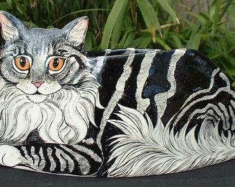 Cat shape planter designed by Nina Lyman Cats By Nina