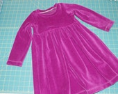 Baby Dress Toddler dress Play dress - Raspberry - size 3T - in stock
