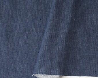Dark Blue Denim Fabric - 59 Inches Wide - By the Yard 88448