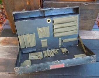 Vintage Custom Hardshell Engineers Carrying Case Tool Box Chest Suitcase Black
