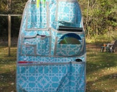 Turquoise Paintbox Wicker Adolescent Style Car Organizer