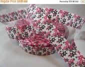 star ribbon, pink black ribbon, 7/8 Inch Ribbon, colorful stars ribbon, Grosgrain Ribbon, Craft supplies, RN14734