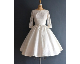 SALE - Brie / 50s wedding dress / vintage 1950s wedding dress