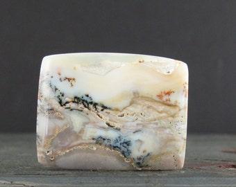SALE  dendritic agate cabochon, Natural stone, Semiprecious stone, Jewelry making supplies B6419