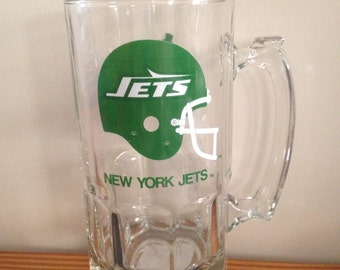 Vintage New York Jets Beer Mug