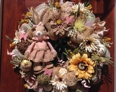 Large Girl Rabbit Wreath
