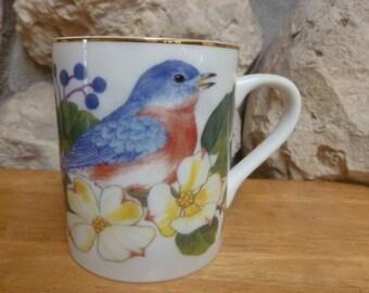 Robin & Butterfly mug by Elizabeth Rush Andrea by Sadek