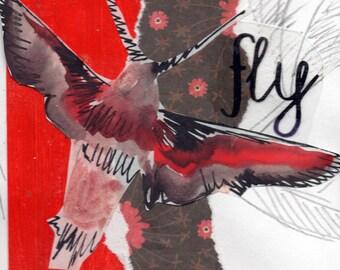 Fly: Inspirational Butterfly Wall Art, Original Butterfly Wall Art, Inspirational Home Décor, Inspirational ig002