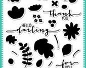 Avery Elle Clear Stamps, Summer Sale, Fabulous Florals Stamp Set, Floral Silhouette Stamp