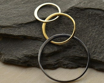 Mixed Metal Three Circle Link.