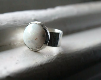 Full Moon~~ Opal Sterling Silver Ring