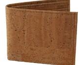 Natural cork mens wallet