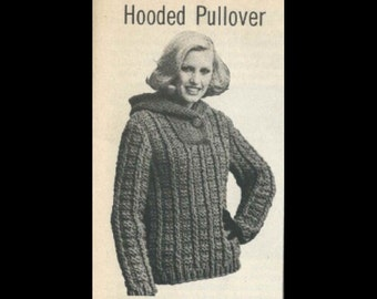 Womens Knit Hooded Pullover Hoodie pattern