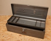 Vintage DUNLAP Tool Box - Heavy All Steel Construction - Lift Out Tray