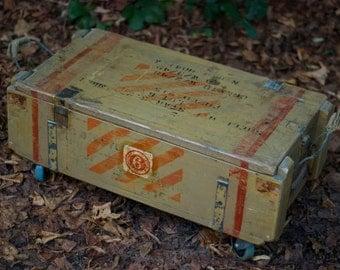 Ammo box coffee table