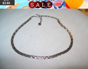 SALE 60% Off Vintage Trifari silvertone choker necklace, choker, vintage choker, Trifari necklace