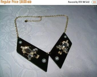 SALE 50% Off beaded bib necklace, statement necklace wear/craft/repurpose