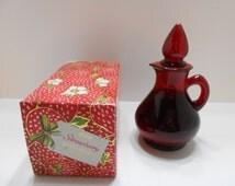 Vintage 1970s Avon Strawberry Bath Foam (4) 4 fl. oz....Full Decanter in Box