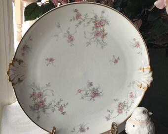 Charles Field Haviland GDA Limoges France Platter Chop Plate Cake Plate Fine Hand Painted Limoges Porcelain Haviland  12.5 inches