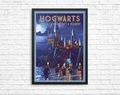 Hogwarts Travel Poster | Harry Potter poster |  Vintage Impressionistic look print | Vintage travel | Fantasy travel poster