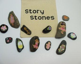 Ballerina story stones, ballerina story, imagination builder