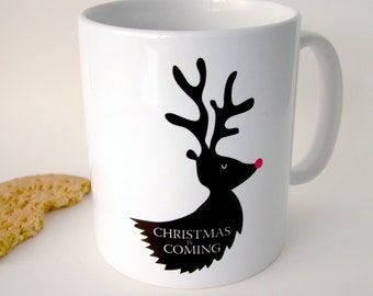 Game of Thrones Christmas is Coming Mug - Stark Family - Game of Thrones - Game Of Thrones Gift