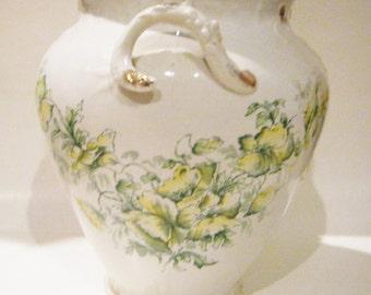 Rare Antique Wheeling Pottery La Belle China Large Two Handled Vase or Urn
