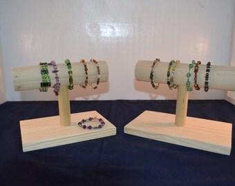 Collapsible Wood Bracelet Stand / Wood Bracelet Display / Watch Stand / Watch Display / Bracelet Store Display
