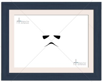 Minimal Star Wars Storm Trooper Illustration Photographic Print - Various Sizes - Gift Idea