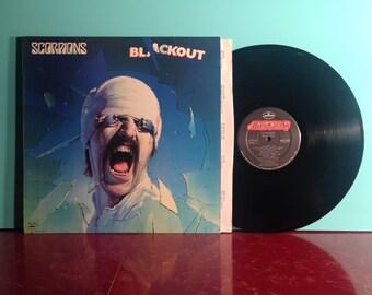 SCORPIONS Blackout Vinyl Record Album LP 1982 Masterdisk Pressing Hard Rock Music Heavy Metal 80s Near Mint - Condition Vintage