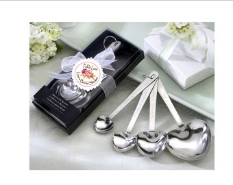 Bridal shower measuring spoon favors - fall in love, autumn theme bridal shower favor - set of 10