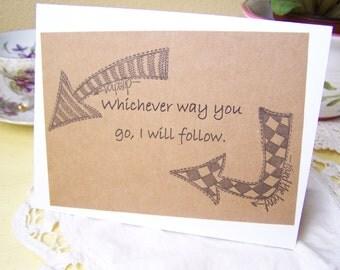 Anniversary Card, Friendship, Love, Journey
