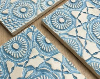 Ceramic textured coaster
