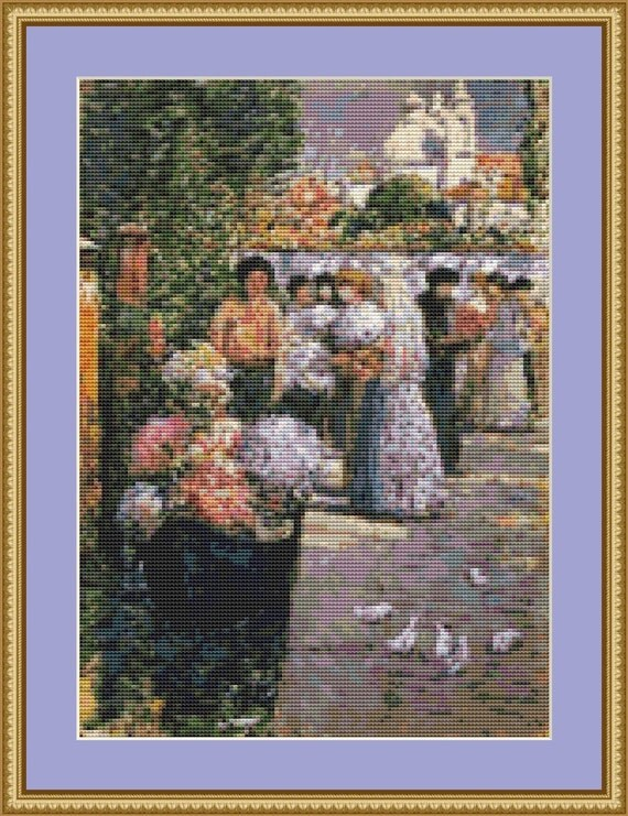 Flower Market Cross Stitch Pattern /Digital PDF Files /Instant downloadable